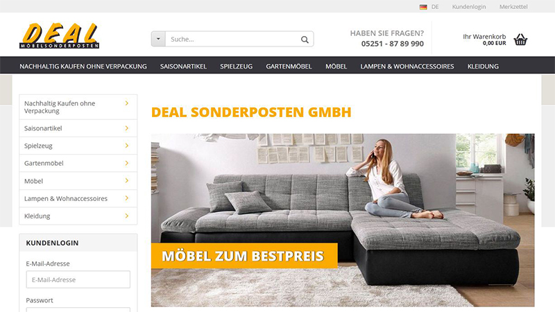 Deal Sonderposten Discount Shop